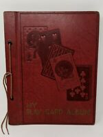 Vintage My Play Card Album 1940's Playing Cards Cats Dogs Horses People...