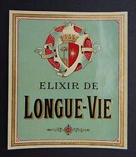 Ancienne étiquette ELIXIR DE LONGUE VIE Haberer old french label