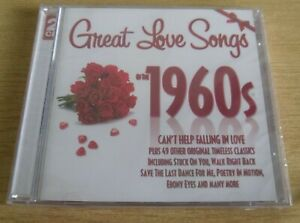 New & Sealed Great Love Songs 1960's Album CD 2 Discs Various Artists