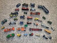 Huge Lot of VINTAGE DIE CAST Metal Steel TOOTSIE Midgetoy TOY Trucks Trains Cars