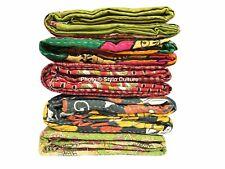 Patchwork Kantha Quilt Indian Handmade 10 PC Comforter Blanket Bedding Throw