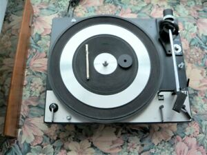 DUAL 1219 TURNTABLE SERVICED WITH PLINTH AND DUST COVER NICE!