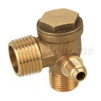 Air Compressor 3-Port Brass Male Threaded Check Valve Connector Tool