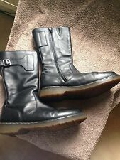 Y 's by Yohji Yamamoto pour Dr. Martins motor cycle Bottes Noir Cuir 10 EU 45