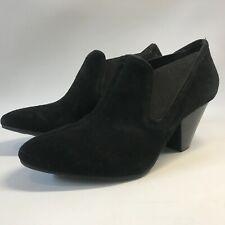 Nurture Womens  Black  Suede Ankle Boots Size 7.5
