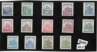 Complete MLH WWII stamp set / B a M German Occupation / Castles & Cathedrals