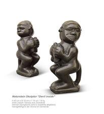 "Stone sculpture ""Devil inside"" handmade in South Africa. H 40 cm / 14 kg"