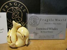 Harmony Kingdom Mps Fragile World Entwined Whales Marble Resin Figurine