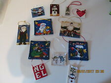 Handmade Christmas Fabric  Ornaments/Gift Tags(2)
