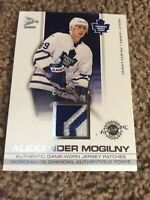 2002-03 McDonald's Pacific Jersey Patches Gold  Alexander Mogilny 33 of161 R163
