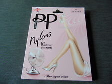 "Pretty Polly 1 Pr 10 Denier Gloss Tights M H5'2""-5'8"" Hips 38-42"" Black BNWT"