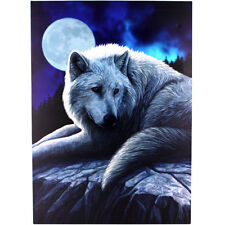70 X 50CM 'GUARDIAN OF THE NORTH ' LISA PARKER WOLF/WOLVES DESIGN WALL PLAQUE