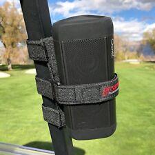 Bushwhacker Speaker Mount for Golf Cart Railing Blue Tooth Holder Wireless Bar