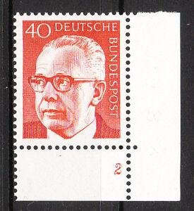 BRD 1970 Mi. Nr. 639 Postfrisch Eckrand 4 Formnummer 2 TOP!!! (9686)