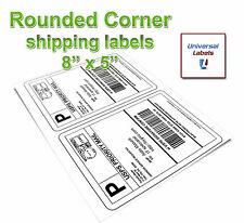 100 Rounded Corner Shipping label sheets, 2 lables per sheet , 200 Total Labels