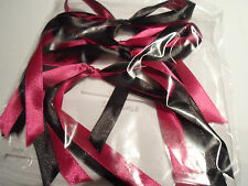 5 x 12mm Christmas Tree Decoration Satin Ribbon Bows Handmade UK VAT Reg