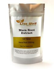 Maca Root 2500mg 120 Tablets -  energy, stamina, sexual health. UK produced.