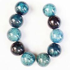 Round Ball Pendant Bead H03879 10Pcs/Set 10mm Blue Dragon Veins Agate