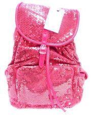 Backpack Sequin Fuchsia Bling Handbag Women Girls School Gym Books Cheer Luggage
