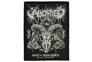ABORTED God Of Nothing Death Metal Woven Sew-On Patch NEW