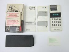 CANON TP-8 VINTAGE ELECTRONIC POCKET PRINTER CALCULATOR WITH CASE INCLUDED,