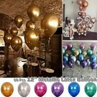 "50PCS 12"" Metallic Pearl Chrome Latex Balloons for Wedding Birthday Party Xmas"