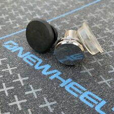 3 Pack - OneWheel Silver Metal Flat Charge Port Power Button Cover Cap Plus New