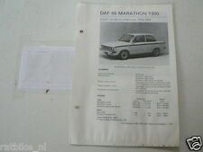 DA13--DAF 66 MARATHON 1300 1973-1974 COACH,STATIONCAR,COACH ,TECHNICAL INFO CAR
