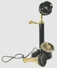 Retro Reproduction Candlestick Telephone Rotary Dial Home Office Decor NEW