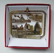 Austin Texas Brass Ornament City Skyline 6th Street Bat Bridge