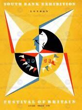 Vintage publicité exposition festival de la grande-bretagne 1951 new art print poster CC4649