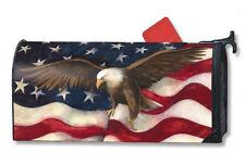 Magnet Works American Flag Pride Eagle Original Magnetic Mailbox Wrap Cover