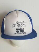 Vintage 80s Mens Trucker Hat Cap Snapback Oregon Dunes Let's go Dune'N Sandlake