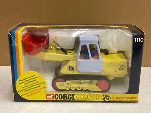 1/35 scale Corgi 1110 JCB 110B tracked crawler loader 1970's boxed