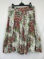 Phase Eight ladies skirt a-line style floral knee length cotton mix size 12 003