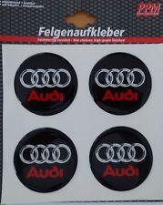 3D Felgen-Aufkleber AUDI Logo 4 Stück-Set Ringe Lackschoner A1 A2 A3 A4 A6 S2 S3