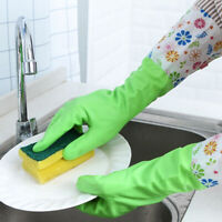 Long Sleeve Multi-color Waterproof Gloves Washing Cleaning Household Kitchen G
