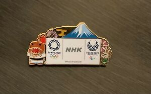 Tokyo 2020 NHK Mt. Fuji  media pin