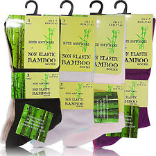 NEW WOMENS LADIES SUPER SOFT TOP ANTI BACTERIAL ODOUR BAMBOO ANKLE SOCKS SIZE