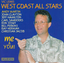 VIC LEWIS WEST COAST ALL STARS: ME & YOU! Andy Martin, CD, sehr gut