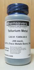 Tellurium Metal Powder 200 Mesh 9987 Trace Metals Basis Certified 250g