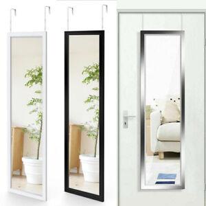 Long Mirror Full Length Over Door Mirror Wall Dressing Bedroom W/ Hanging Hook