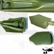 Original Bundeswehr Klappspaten in oliv Spaten, BW Spaten mit Hülle flecktarn