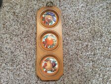 Vintage Collectible E.A.  Riba Co. Fruit Plaque,Apple,Pear,Orange Ceramic
