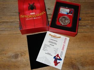 2017 Cook Island Spiderman Homecoming Silver Coin NGC PF70 Ultra Cameo First