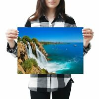 A3 - Waterfall Duden Antalya Turkey  Ocean Poster 42X29.7cm280gsm #24412