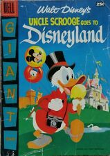 "DELL GIANT ""UNCLE SCROOGE GOES TO DISNEYLAND"" #1 GD/VG 3.5 DELL 1957"