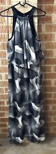 Witchery Black And White Maxi Dress Size 14 In Exc Cond