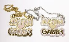 Diamond Sparkle Couples Necklace - Personalized Name Necklace - Buy 1 get 1 FREE