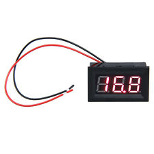 0.56inch LCD DC 3.2-30V Red LED Panel Meter Digital Voltmeter with Two-wire Hot